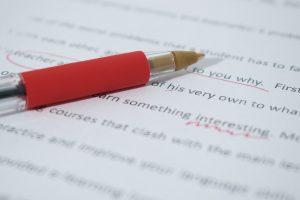correcting paper