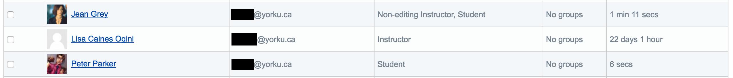 Participants page